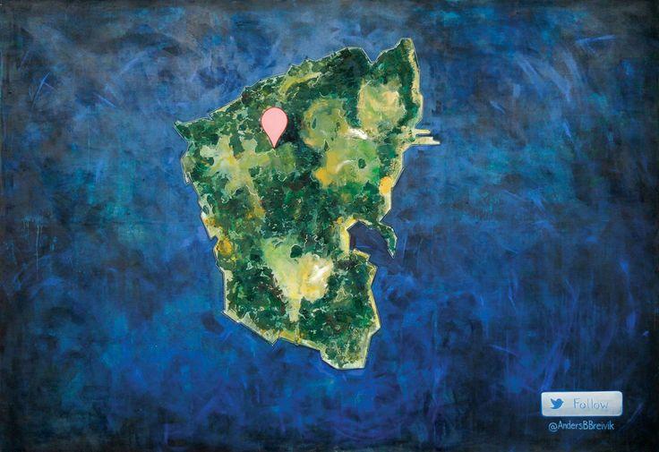 """New(s) Paintings"", Wyspa Utøya w Norwegii / lipiec 2011 #art #painting #utoya #cyberculture"