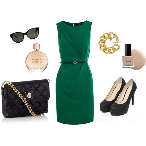 Classy Green & Black: Fashion