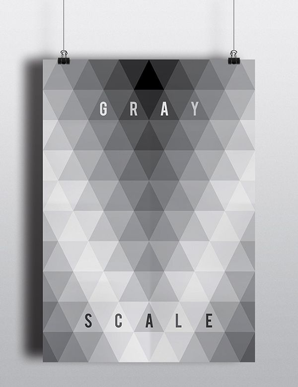 "Poster ""gray scale"""