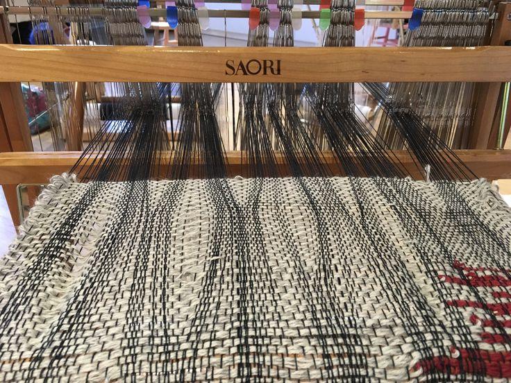 Weaving without a reed www.saorisaltspring.com @saorisaltspring