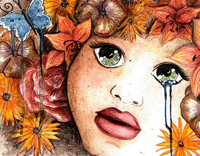 """Check out new work on my @Behance portfolio: """"Flowergirls..."""" http://be.net/gallery/35556397/Flowergirls"""