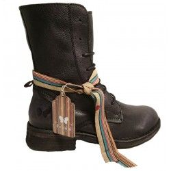 Black leather boots by Felmini, 9333