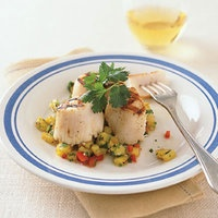 Grilled Scallops with Pineapple Salsa | http://www.rachaelraymag.com ...