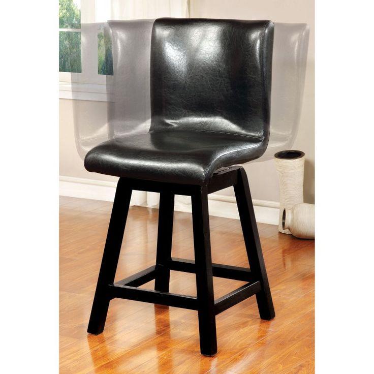 Furniture of America Rathbun Modern Counter Height Swivel Dining Chairs - Set of 2 - IDF-3433PC