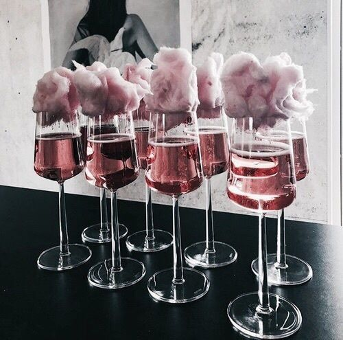 Cotton candy cocktails are an a+o babes fav