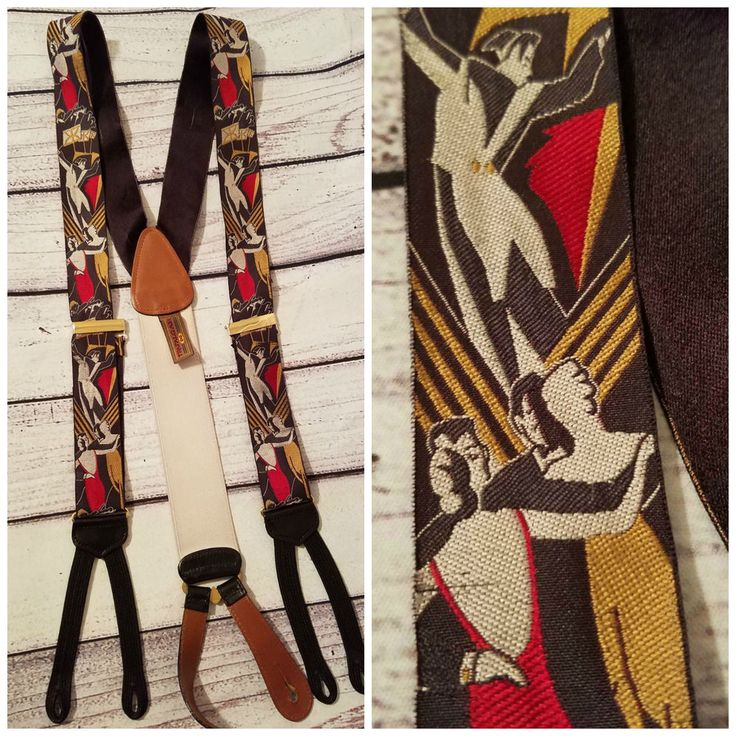 TRAFALGAR Suspenders Braces Orchestra Dancing Party RARE LTD Edition FLAW #TRAFALGAR