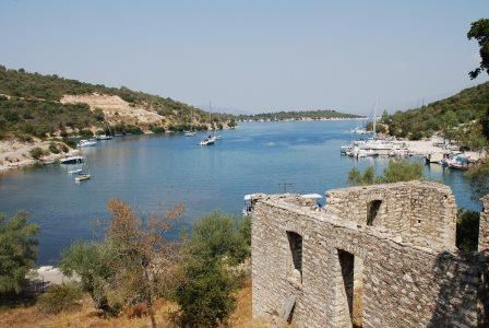 Atherinos Bay in Meganissi, Greece. A perfect spot to drop anchor for the afternoon on a HELM sailing holiday.