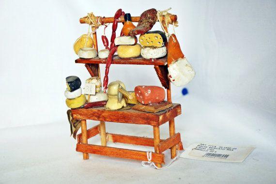 Accessorio per presepe - Banco salumi e formaggi