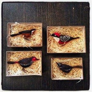"Beautiful handmade ""BIRDS BY MOUSE"" handmade Chewton Victoria ❤️ #madebyhand #australiannative"