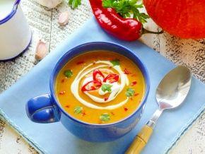 Азиатский крем-суп из печёной тыквы, рецепт с фото