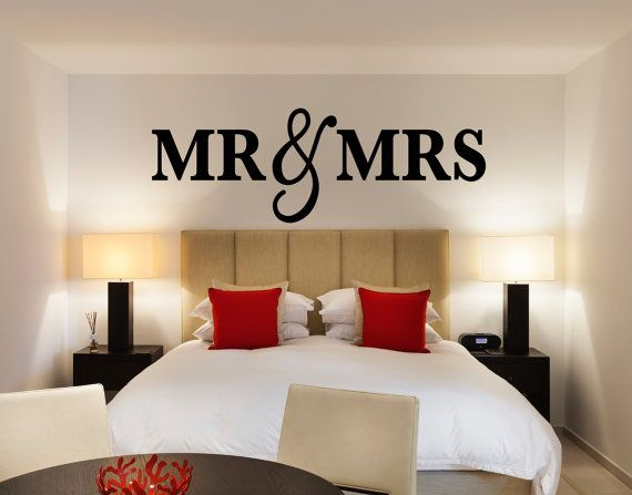 Mr & Mrs Wall Sign for Bedroom Decor - Mr and Mrs Sign for Over Headboard - Home Bedroom Artwork (Item - MMW100)
