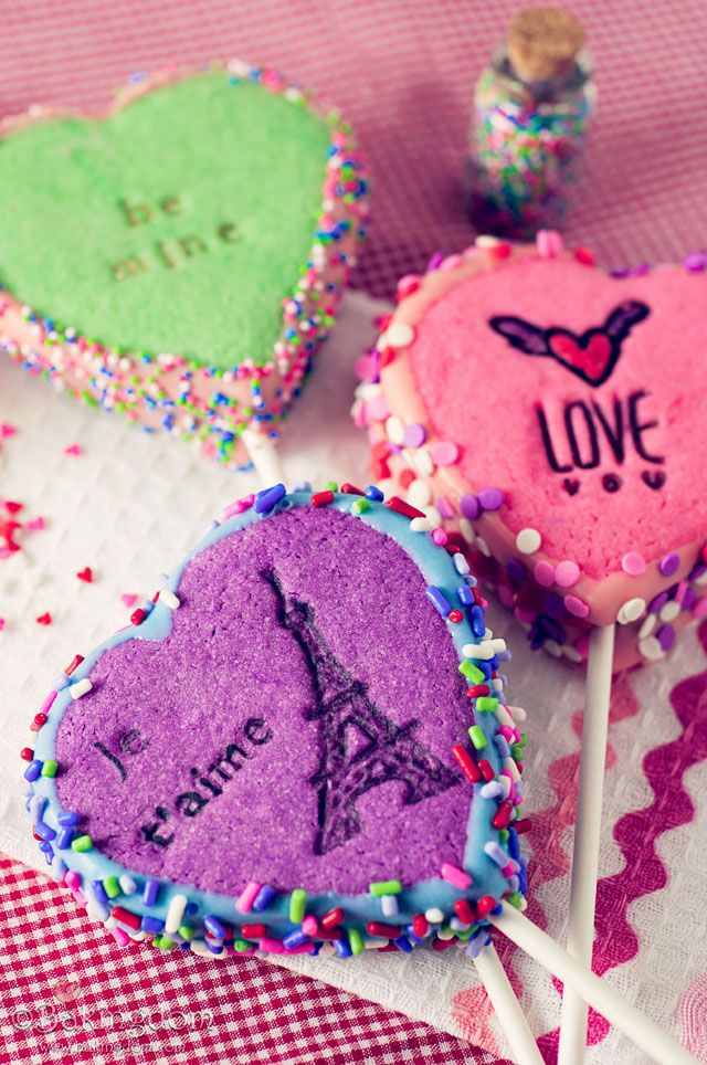 Valentine treats decorated using stamps!