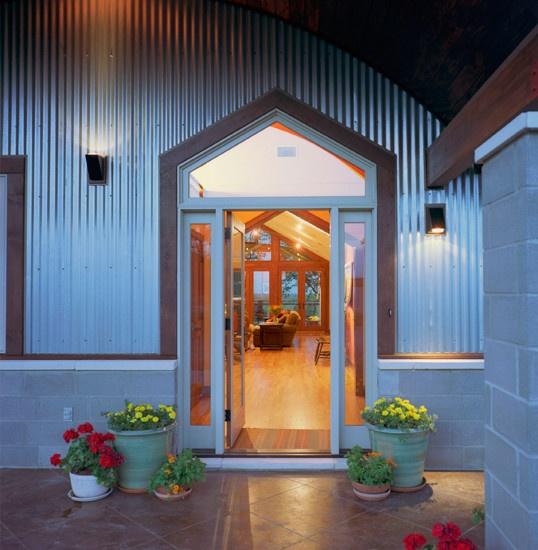 Corrugated Steel Siding Design, Pictures, Remodel, Decor