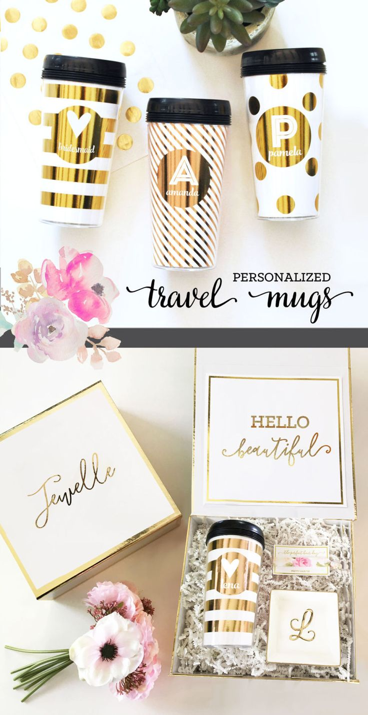 Personalized Mugs | Monogram Travel Mugs | Personalized Coffee Gifts for Women
