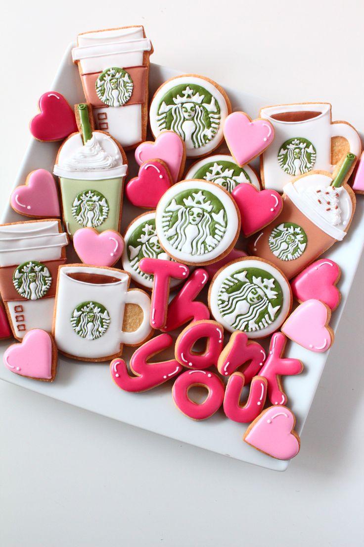 Starbucks coffee icing cookies