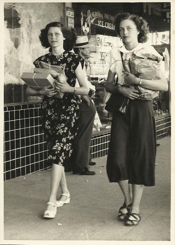 Fatos e fotos da moda de 1940 a 1950