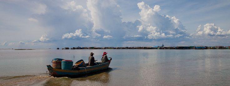 Vers le village flottant de Kompong Luong