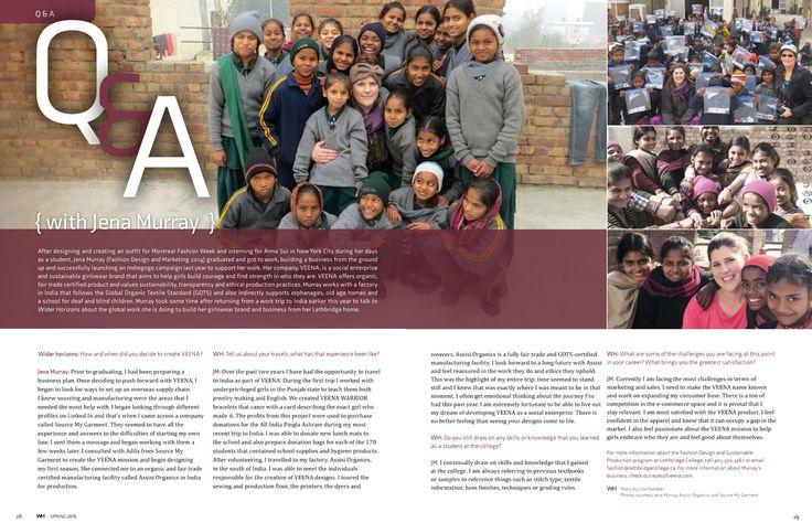VEENA Featured In Wider Horizons Magazine