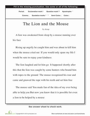 Essay on the help lion and the mouse