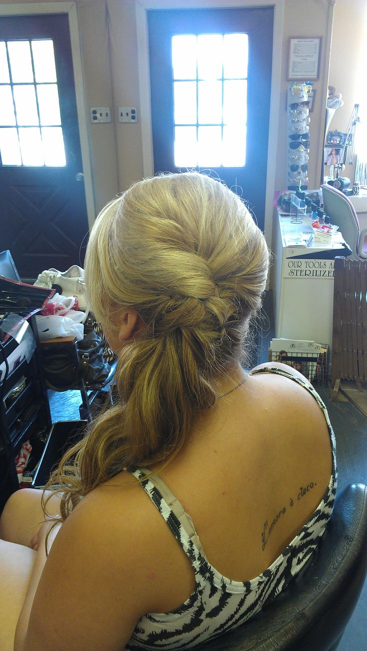 Formal Styling - Side Ponytail