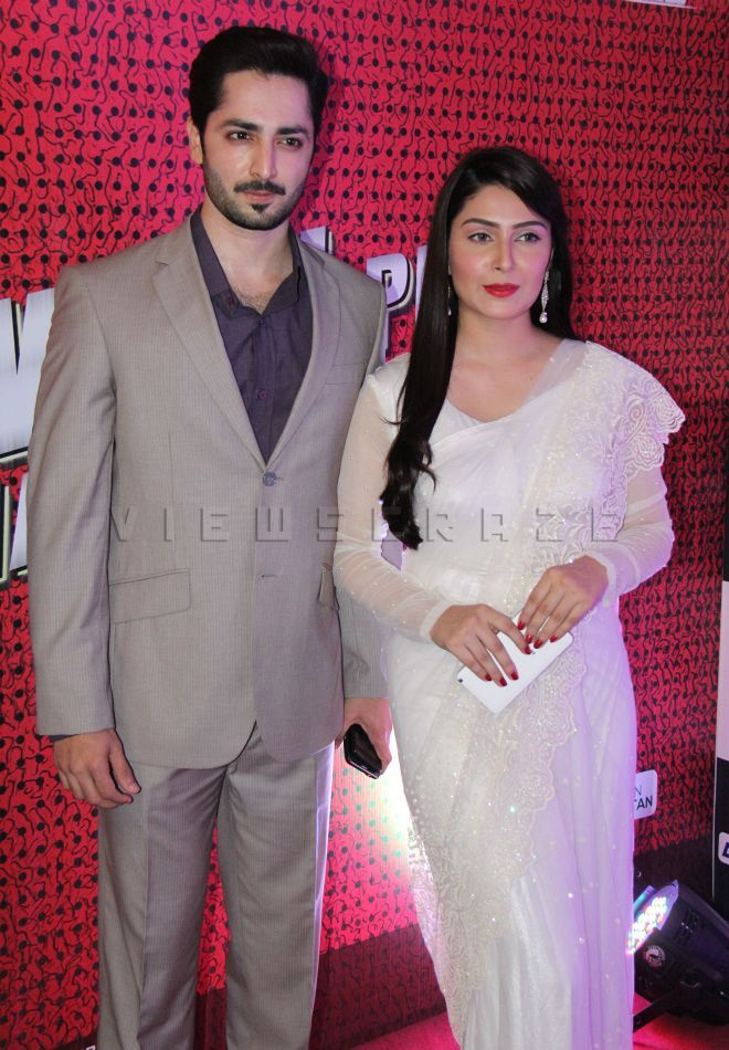 Danish Taimoor & Ayeza Khan at the premiere of film Jawani Phir Nahi Ani