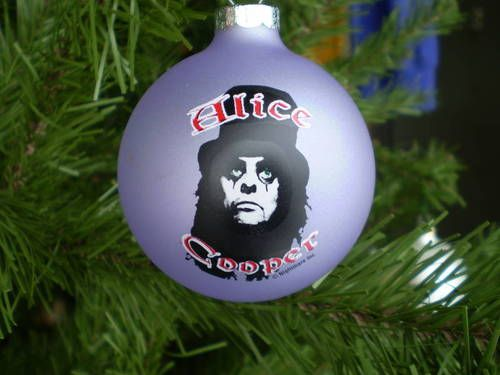 Alice Cooper- Rock And Roll Christmas Ornaments. AC/DC