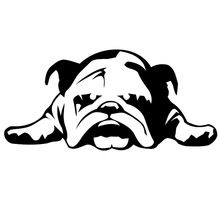 11 cm X 23.2 cm English Bulldog Tired Puppy Dog Rescue Art Wall Sticker For Living Room Lounge Houseware Decor Vinyl Decal(China (Mainland))