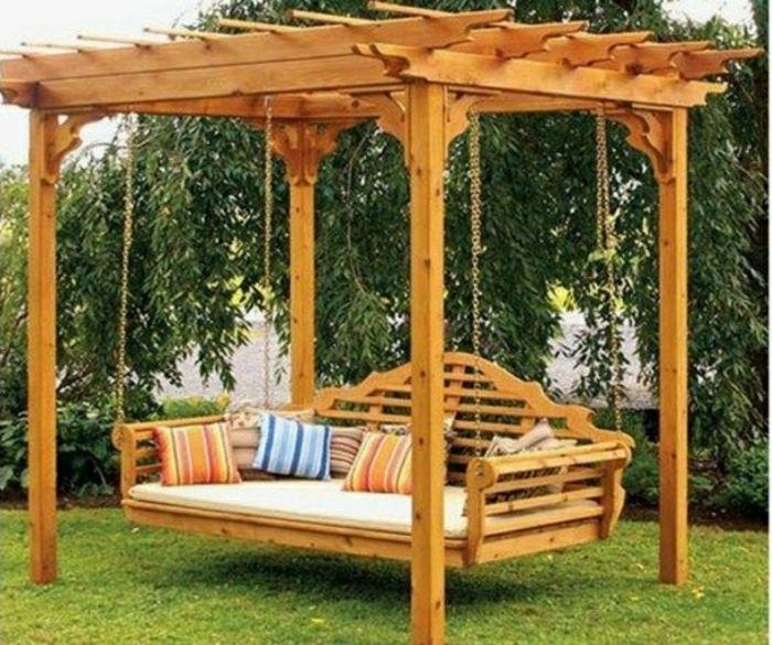 Tolle Vorschläge für Gartenschaukel aus Holz
