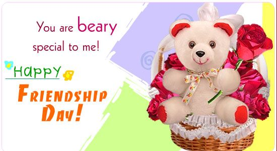 You are beary special to me Happy Hriendship Day ! happy friendship day wallpapers images quotes wishes sms messages elegance and style