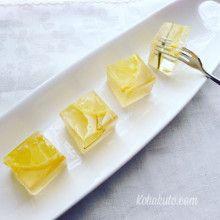 琥珀糖の作り方 レモンのシロップ漬け