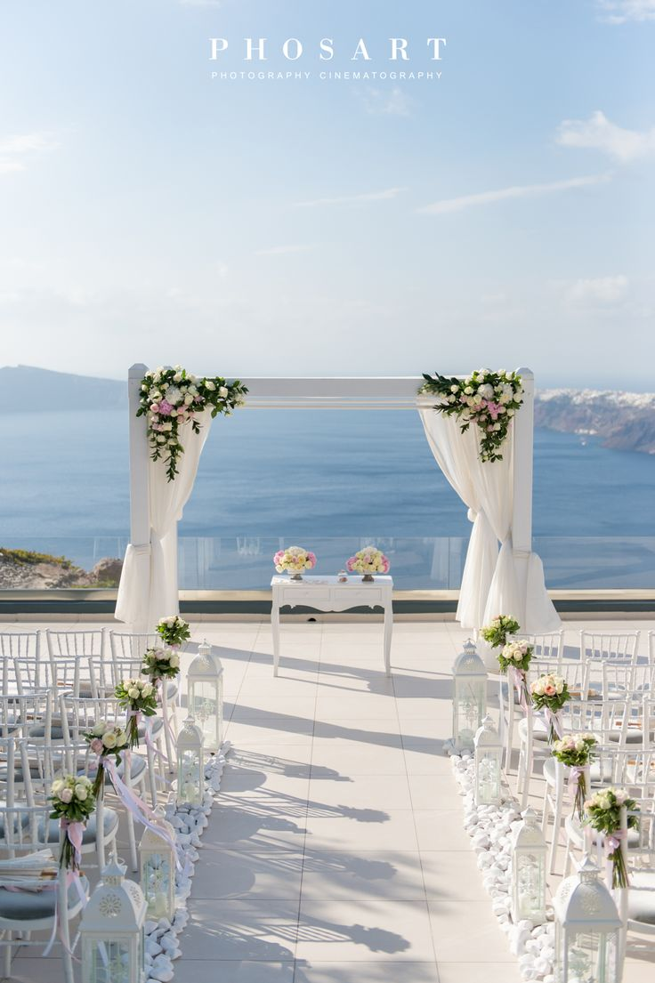 Endless view. Santorini Weddings, Wedding venue, Wedding ...