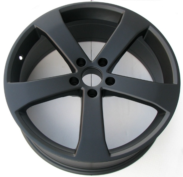 Flat Black Powder Coated Wheels - http://www.powderkegcoatings.com