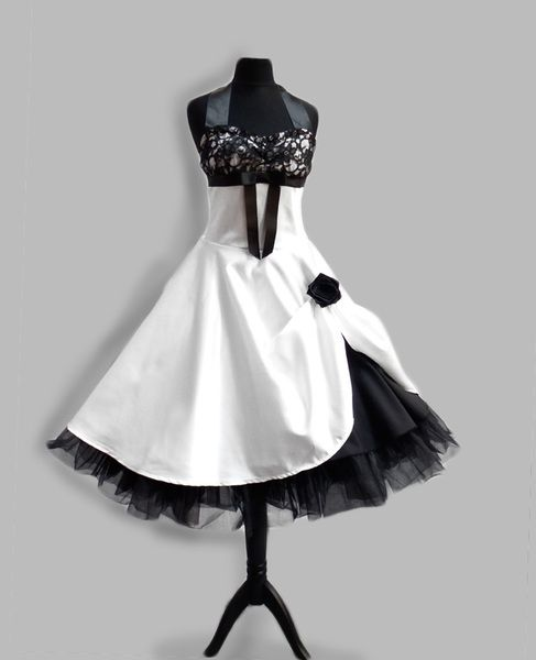 brautkleid im stil der 50er von rockabillymode kleider. Black Bedroom Furniture Sets. Home Design Ideas