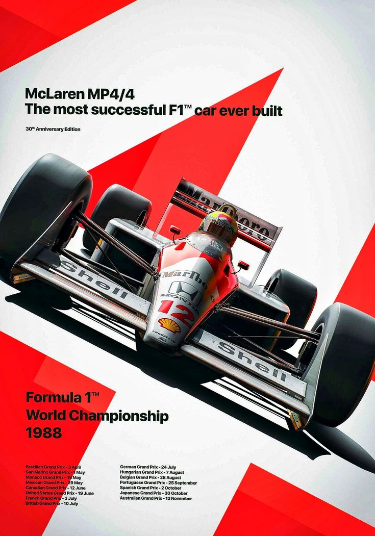 World Champion Ayrton Senna's and Alain Prost's 1988 McLaren Honda MP4/4 cars were the most successful F1 cars in the history of the sport.  Senna and…