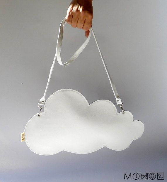 Leather cloud clutch  white by MariekeJacobs on Etsy, €64.95