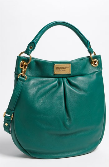MARC BY MARC JACOBS 'Classic Q - Hillier' Hobo available at Nordstrom in this seasonless parrot green! i heart it