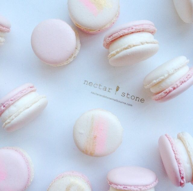 Cotton Candy Macarons by Nectar & Stone