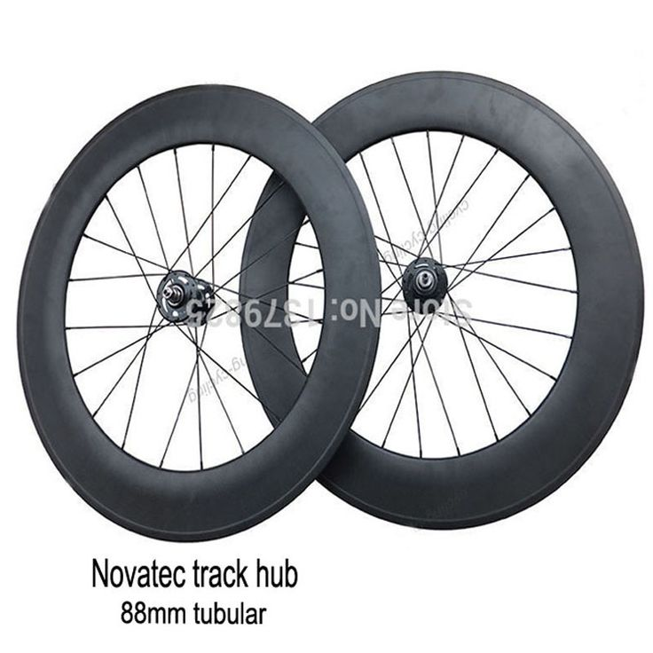 323.00$  Watch now - http://ali3ux.worldwells.pw/go.php?t=32462938585 - 88mm Tubular Carbon Track Bike Wheels Fixed Gear Single Speed Bicycle Wheelset