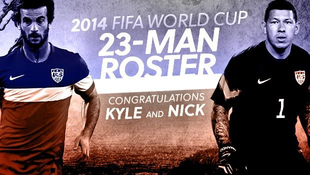 We are going to the WORLD CUP!  Kyle Beckerman and Nick Rimando named to US's final World Cup roster