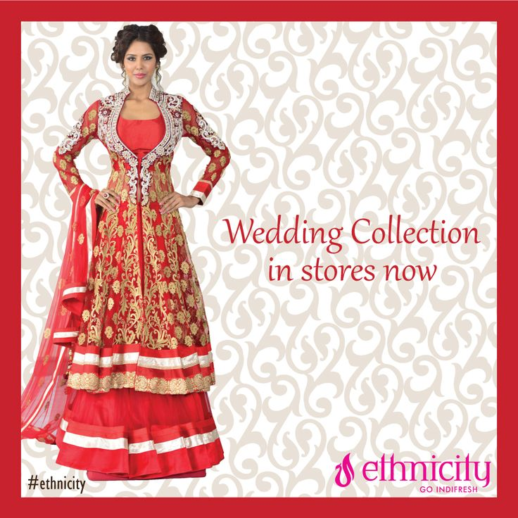 Get your best traditional outfit on for the special occasion of wedding only from #ethnicity