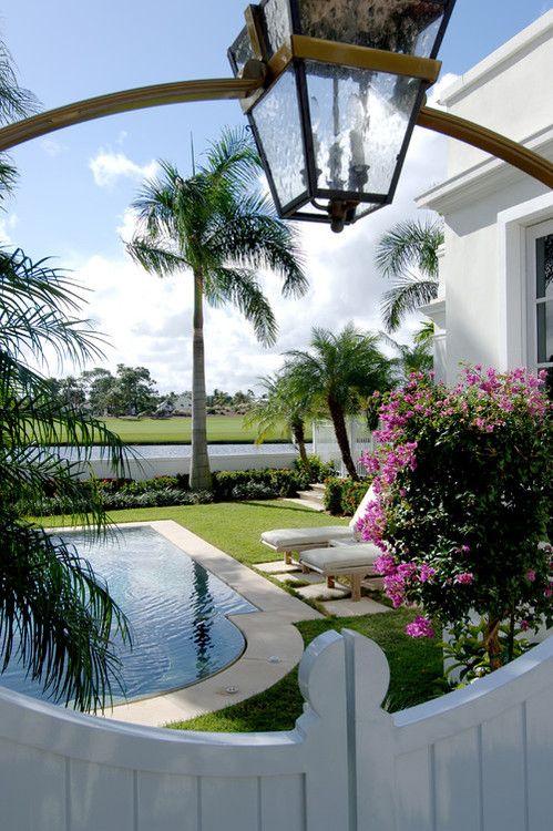Elegant little oasis by John McDonald Co.: Backyard Ideas, Small Pools, Backyard Design, John Mcdonald'S, Small Backyard, Tropical Pools, Gardens Gates, Backyard Pools, Pools Design