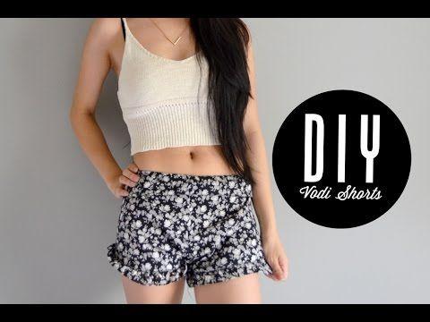 DIY Brandy Melville inspired vodi shorts | Injoyy - YouTube