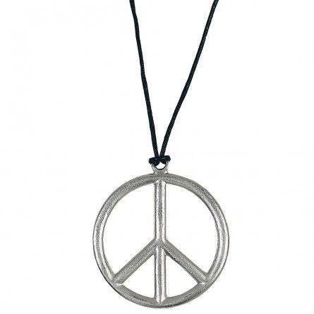 60s Hippie Peace Pendant Necklace