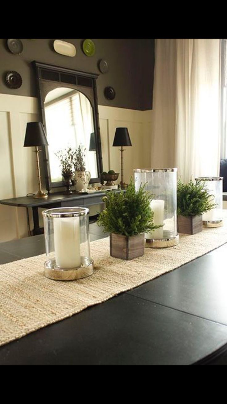 I would use the center pieces on my table because they're simple and add to the room