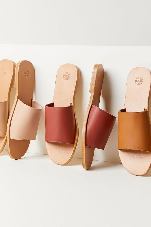 UO Soft Leather Slide Sandal | Leather