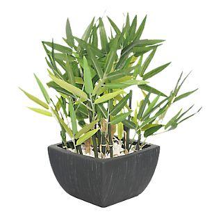 Maceta Bambú Florero Negro 35 cm