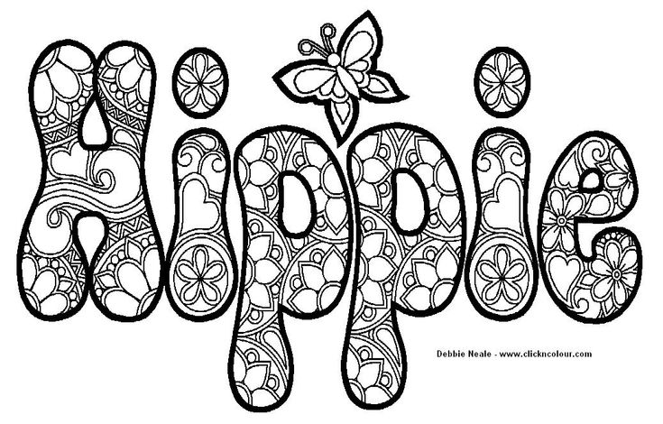 abstract coloring pages with words | 199 best Abstract Coloring Pages images on Pinterest