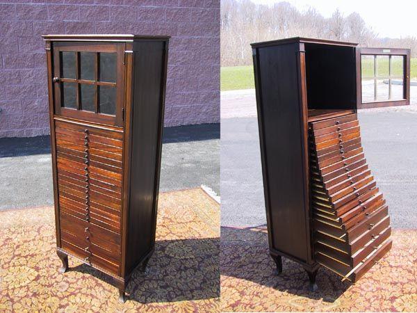 Antique Mahogany Sheet Music Cabinet Tindale Cabinet Co 20 drawer collection - 87 Best Sheet Music Cabinet Images On Pinterest Sheet Music