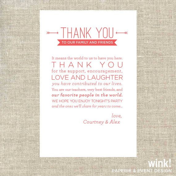 20 best Table Thank You Cards images on Pinterest Wedding - wedding thank you note