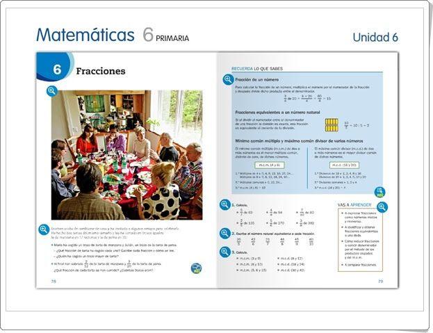 """Unidad 6 de Matemáticas de 6º de Primaria: """"Fracciones"""""""